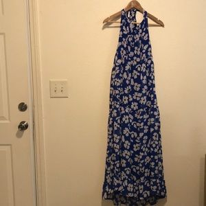 Who What Wear Blue Floral Halter Dress Size XL NWT